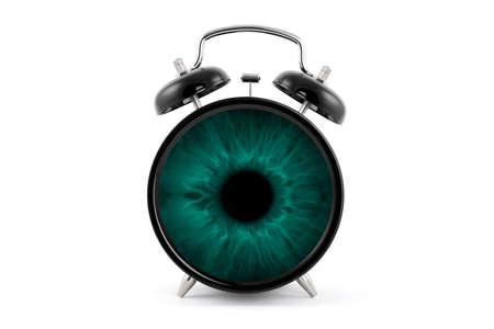 clock in the green eye