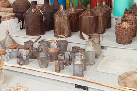 old type buckets and amphoras