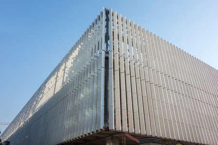 a new architectural building under construction
