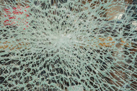 shattered cracked glass surface