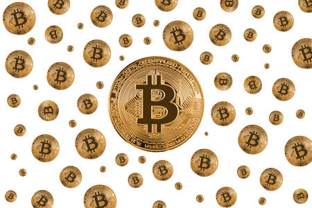 Bitcoin gold coin 写真素材 - 131641326