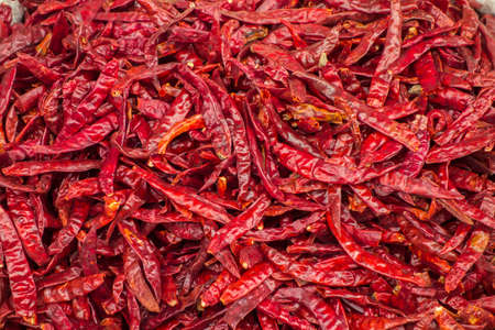 The dried red hot pepper