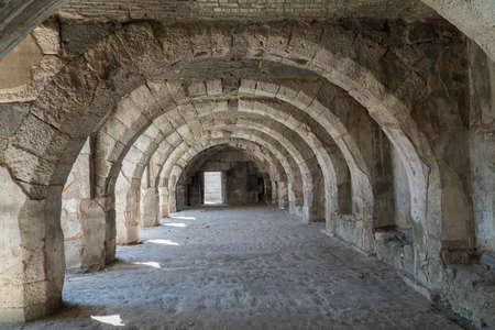 Historic Agora and Columns 스톡 콘텐츠