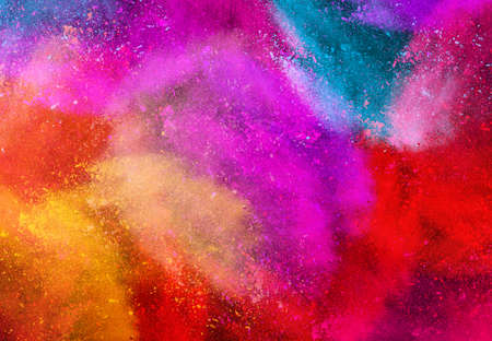 The colorful background, dust explosion