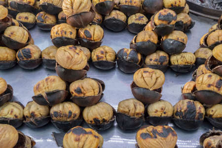 Chestnuts sold in the street 写真素材