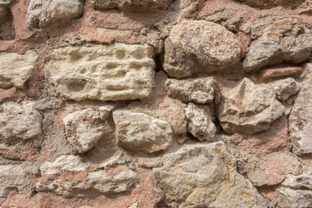 The historic stone brick texture 스톡 콘텐츠