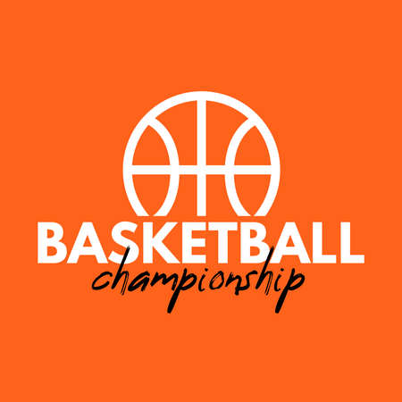 The Basketball logo vector design 일러스트