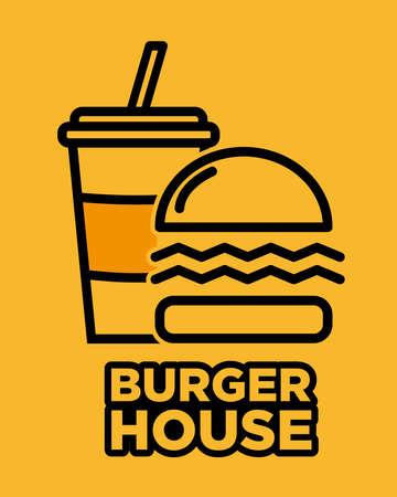 The Burger House logo 일러스트