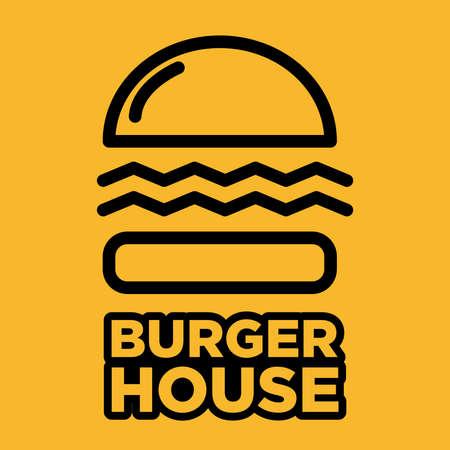 The Burger House logo vector design