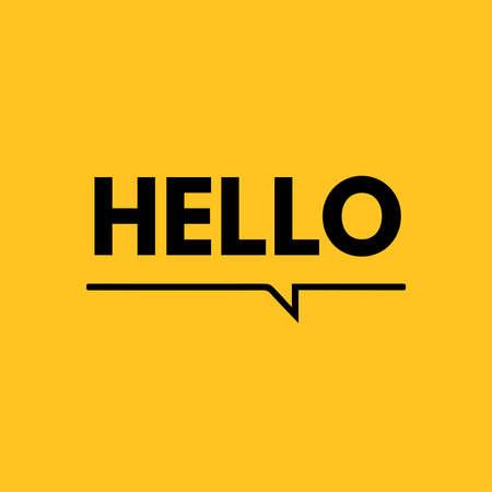 Hello icon, logo vector design 일러스트