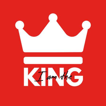 I am the king - logo vector design 일러스트