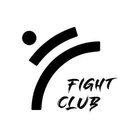 Karate club logo vector design on white 向量圖像