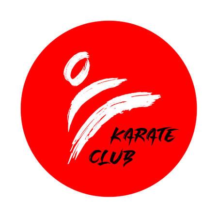 Karate club logo vector design on white 일러스트