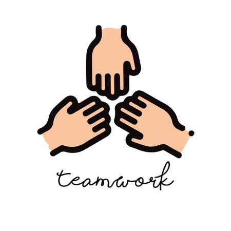the teamwork logo vector design  イラスト・ベクター素材