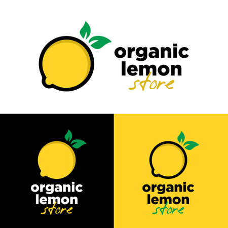 Organic lemon store  vector design