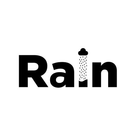 The rain logo vector design