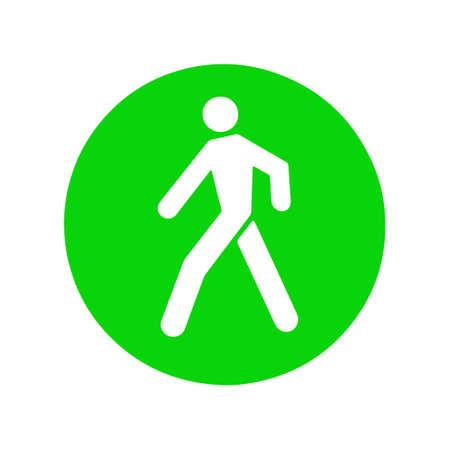 traffic lights green pedestrian icon
