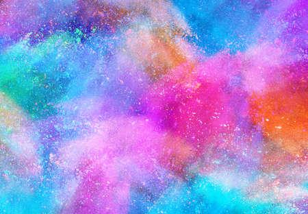 Der bunte Hintergrund, Farbpulver