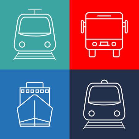 public transport vector drawing  イラスト・ベクター素材