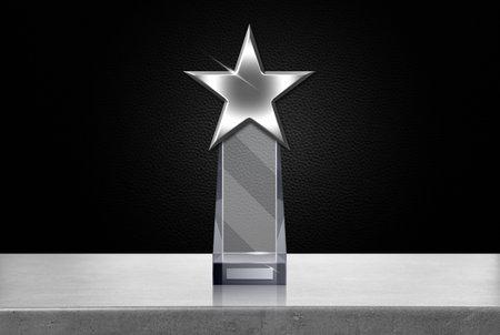 Star shaped award design blank template 写真素材