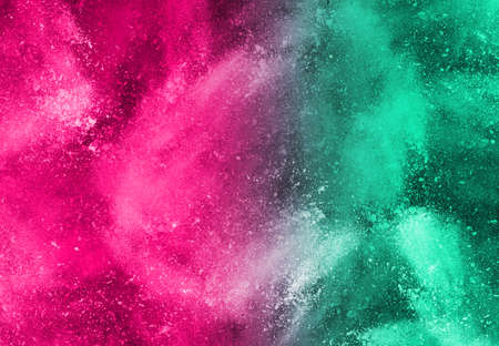 the colorful background, Colorful powder explosion