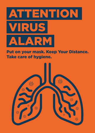 Attention Virus Alarm Ready Poster