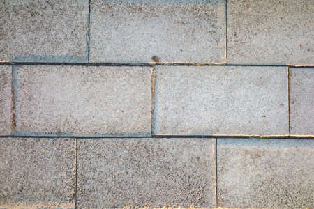 the old stone floor pavement