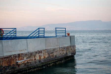 pier, Izmir gulf and scenery Stock Photo