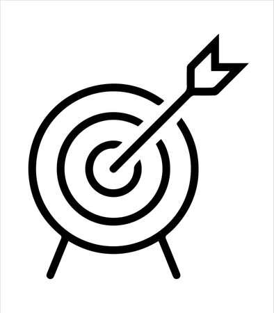 archery icon and archery sport