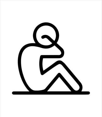 exercising man icon, sport icon