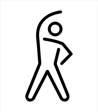 workout man icon and sport logo Illustration