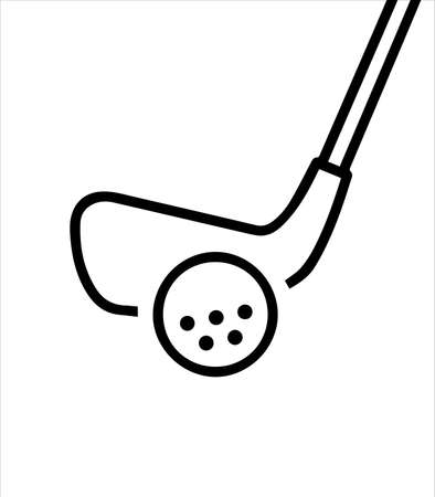 golf sport and club icon