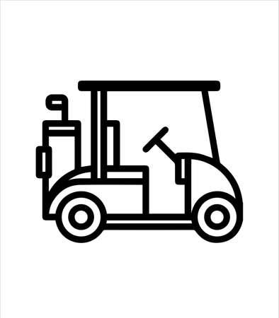 golf car icon ang golf club logo