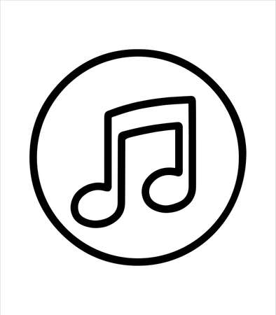musical note and music icon