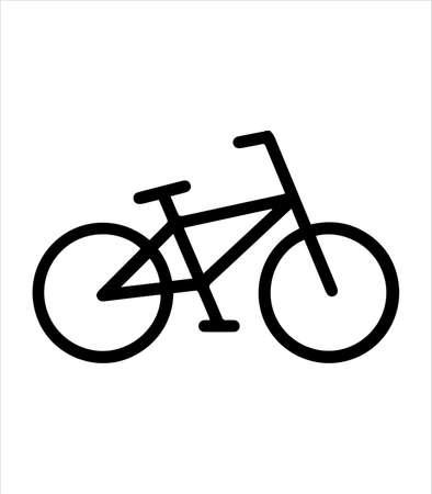bike icon and bicycle illustration