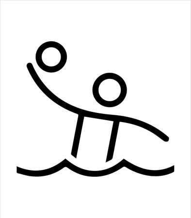 the water hantball icon, sport icon Illustration
