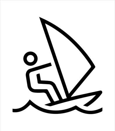 the surf icon and waves