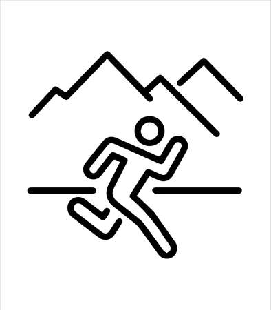 the outdoor sports running icon Illustration