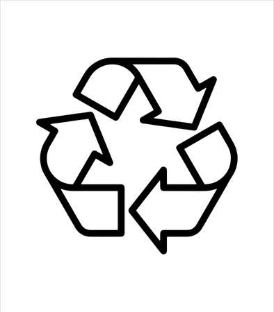 The recycling icon and environment
