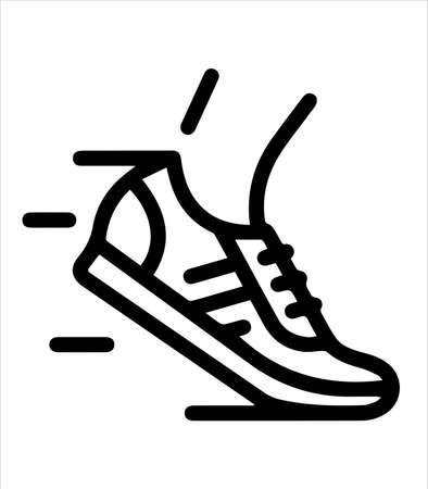 the running icon and shoes