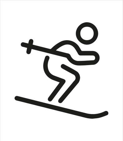 the ski icon and slider Illustration