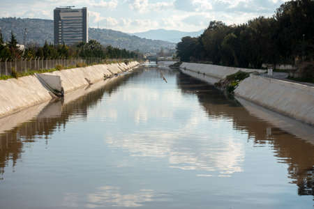 channel and waste water stream