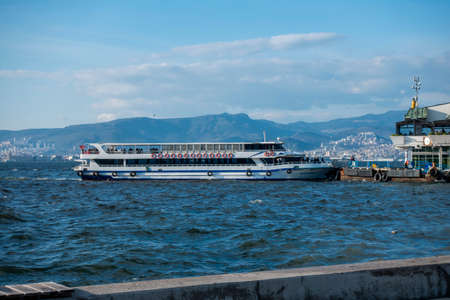 The Izmir gulf and ferry