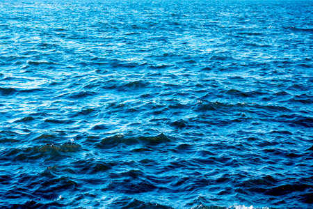 the blue sea and wave