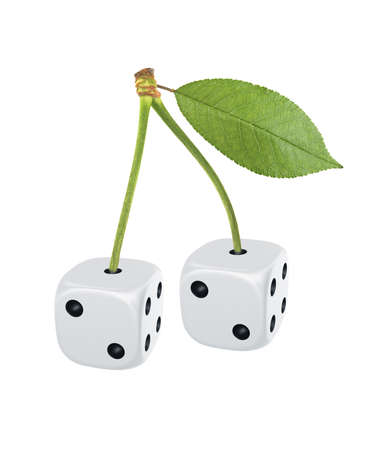 cherry image made of dice