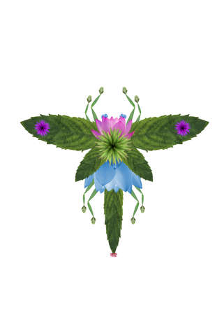 the insect made of flowers