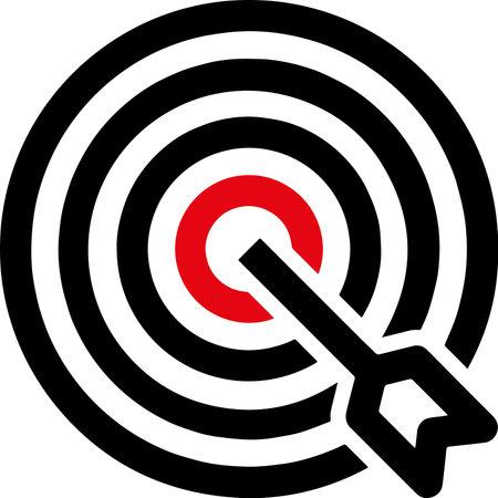 target icon and focus on target Vektorgrafik