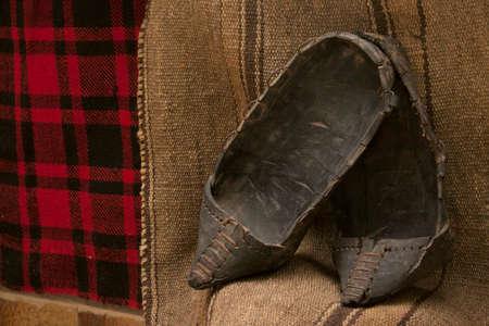 peasant: traditional peasant shoes