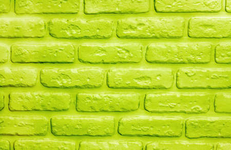 UFO green bricks background. Color of 2019 year. Modern trendy texture for design