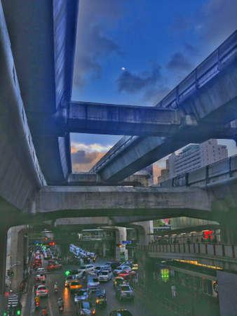 moon  metropolis: Traffic jam in the evening